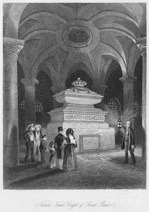 Nelsons Tomb, Crypt Of Saint Pauls Drawing by Print Collector