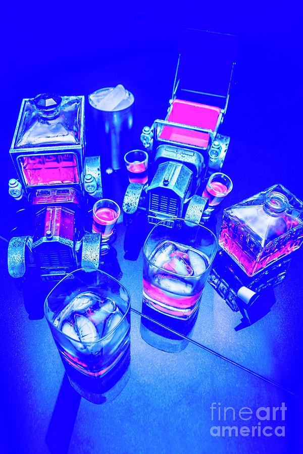 Retro Photograph - Neon Bar by Jorgo Photography - Wall Art Gallery
