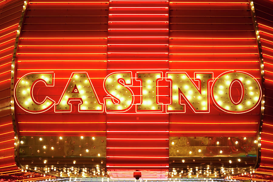 Neon Casino Sig Photograph by Nash Photos