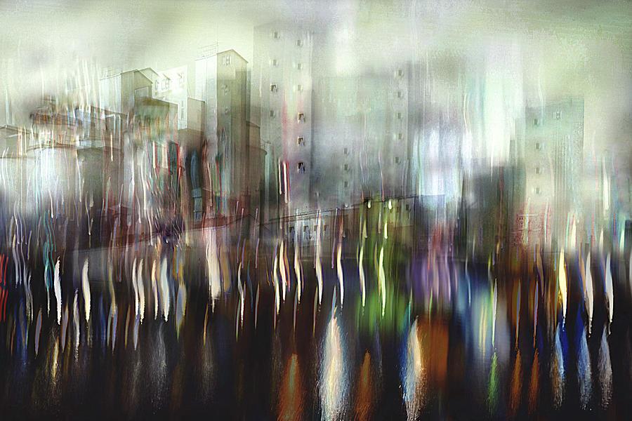 Creative Edit Photograph - Neon City by Christina Sillèn