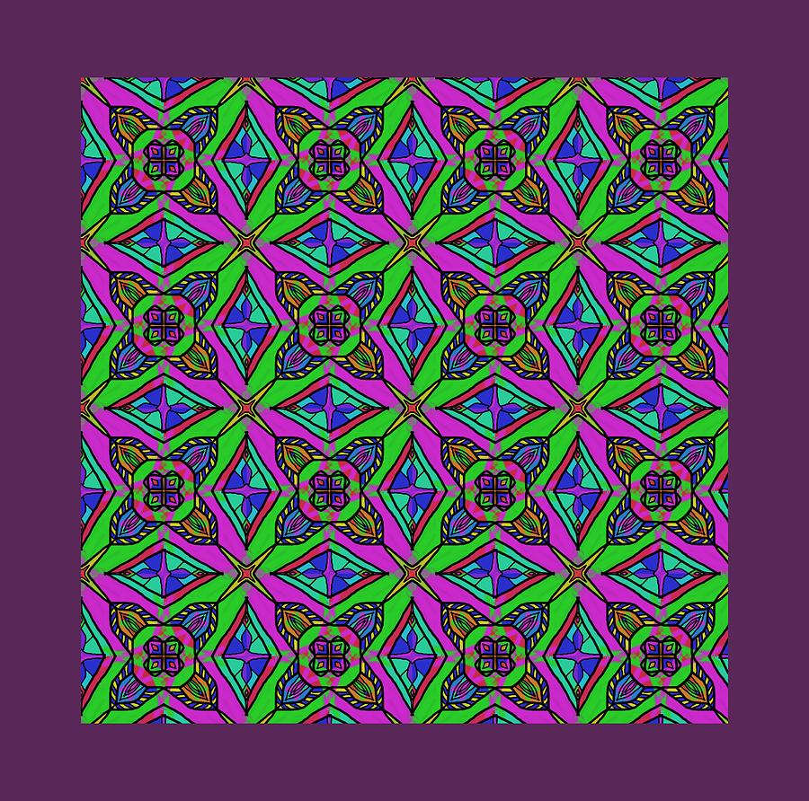 Neon Diamond Pattern by Becky Herrera