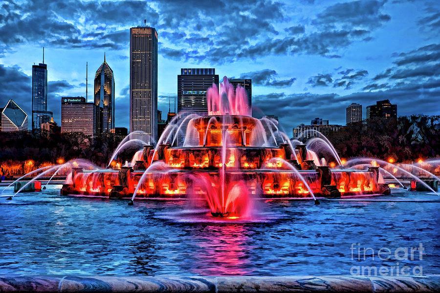 Neon Fountain by EliteBrands Co
