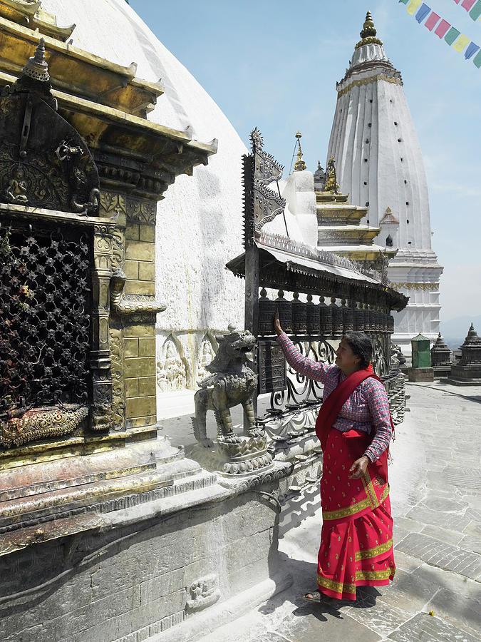 Nepal, Bagmati, Kathmandu, Local Woman Photograph by Steve Allen