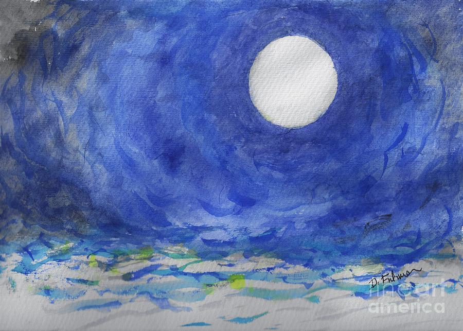 Neptune Full Moon by Denise F Fulmer