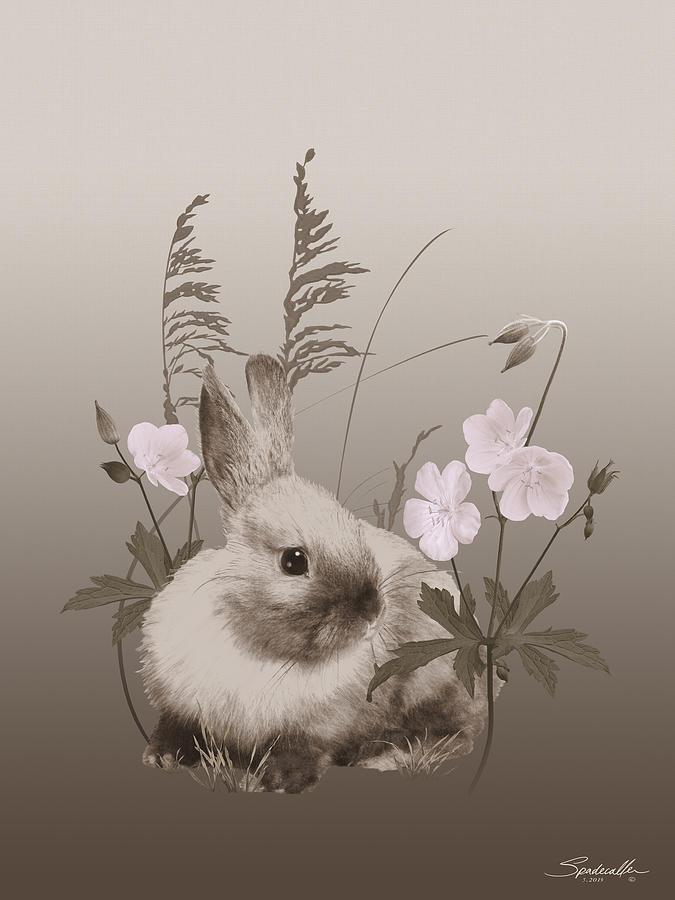 Nestling Bunny by Spadecaller