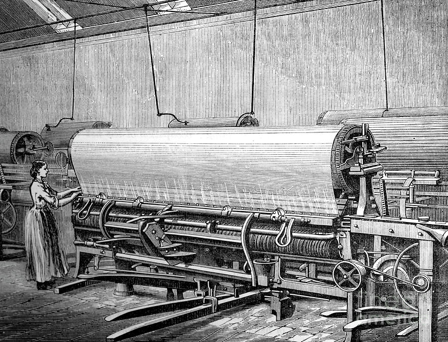 Net Loom In The Stuarts Factory, C1880 Drawing by Print Collector