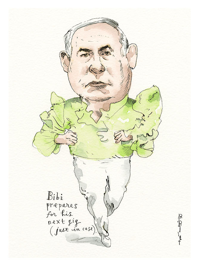Netanyahu Reaches For The Stars Painting by Barry Blitt