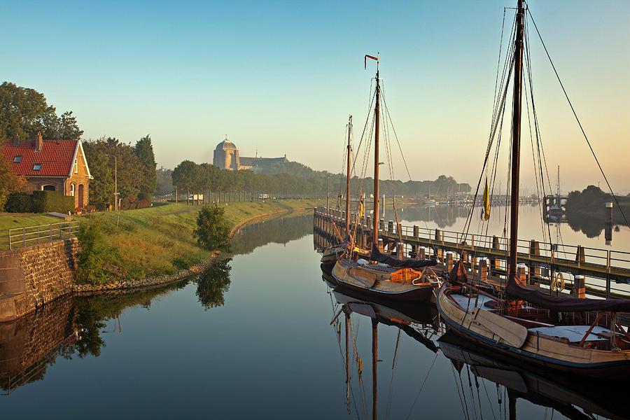 Netherlands, Veere, Harbour Photograph by Frans Lemmens