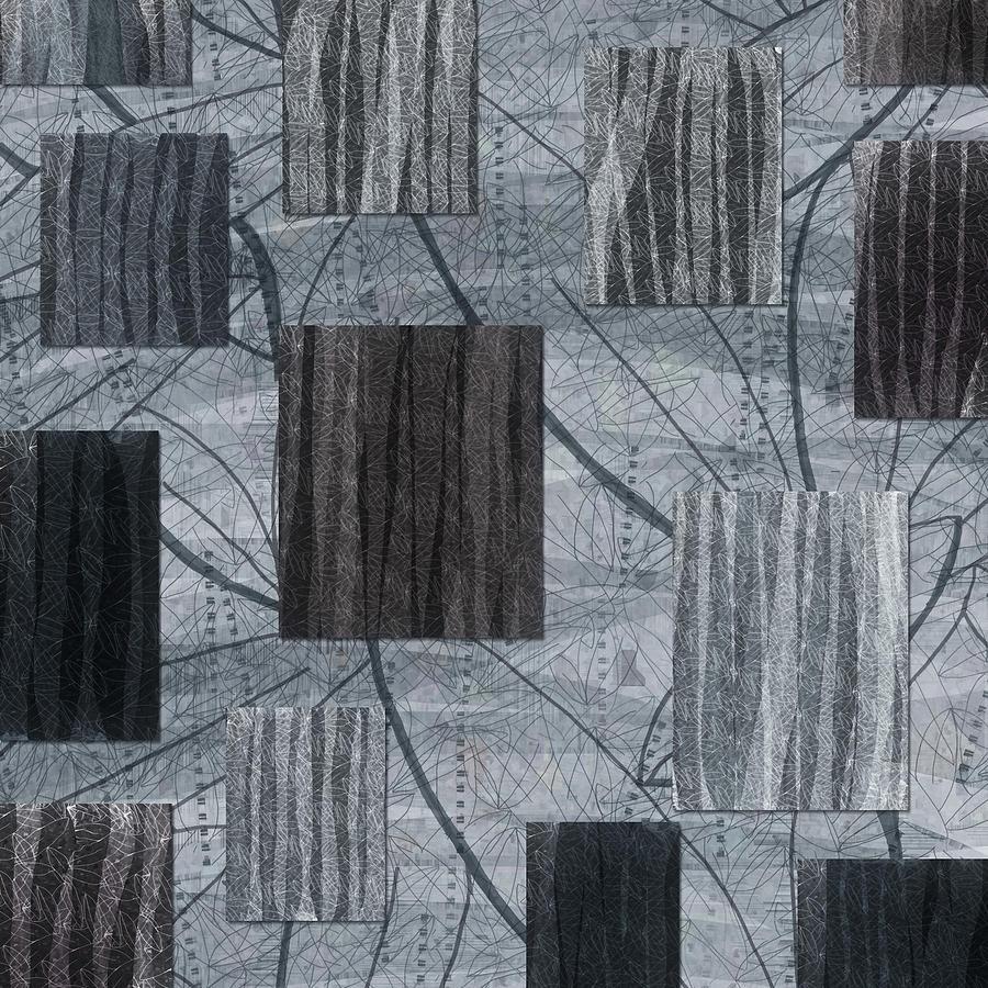 Neutral Toned Leaf Square Print Digital Art