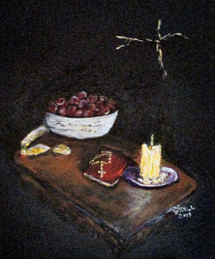Christian Painting - Never In Darkness by Clyde J Kell