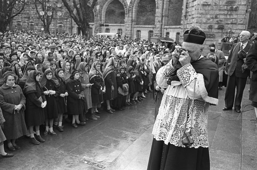 New Basilica Blessing At Lourdes In 1958 Photograph by Keystone-france