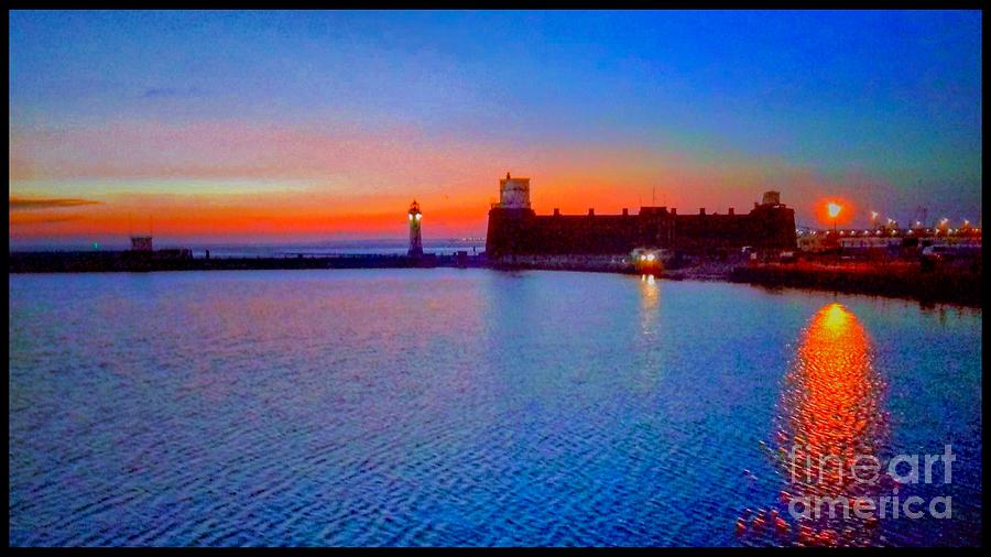 New Brighton Sunset 2 by Joan-Violet Stretch