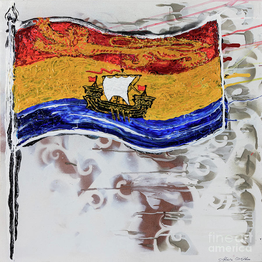 New Brunswick Flag by Sheila McPhee