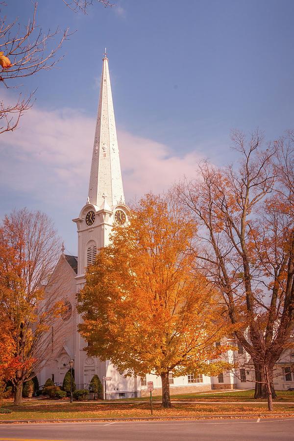 New England church by Susan Leonard