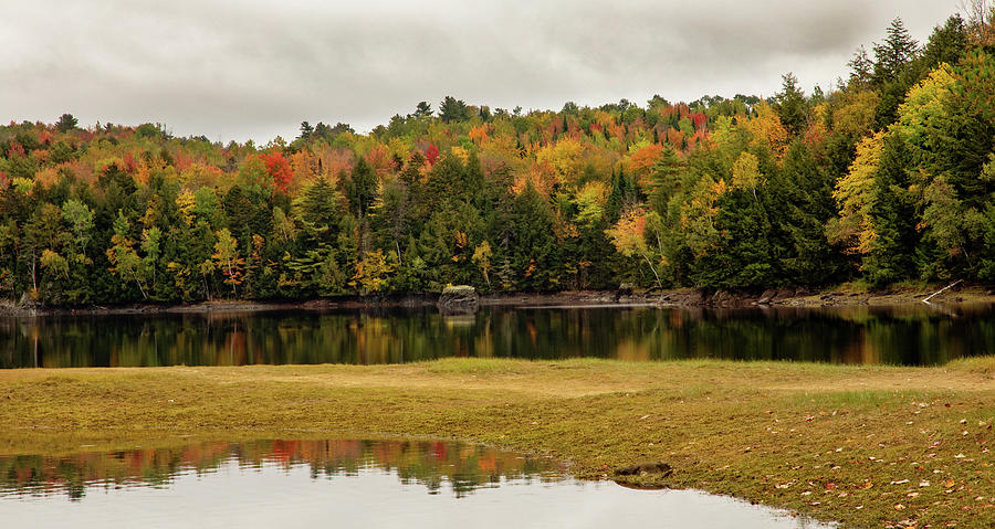 New England Fall and Lake 2 by Rebecca Cozart