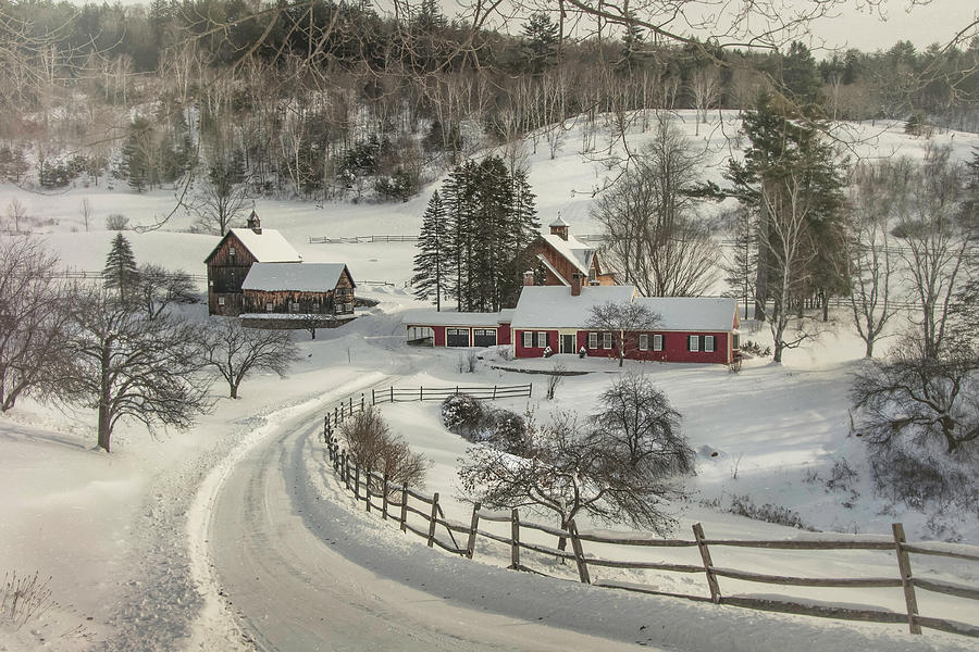 New England Farm in Snow by Joann Vitali