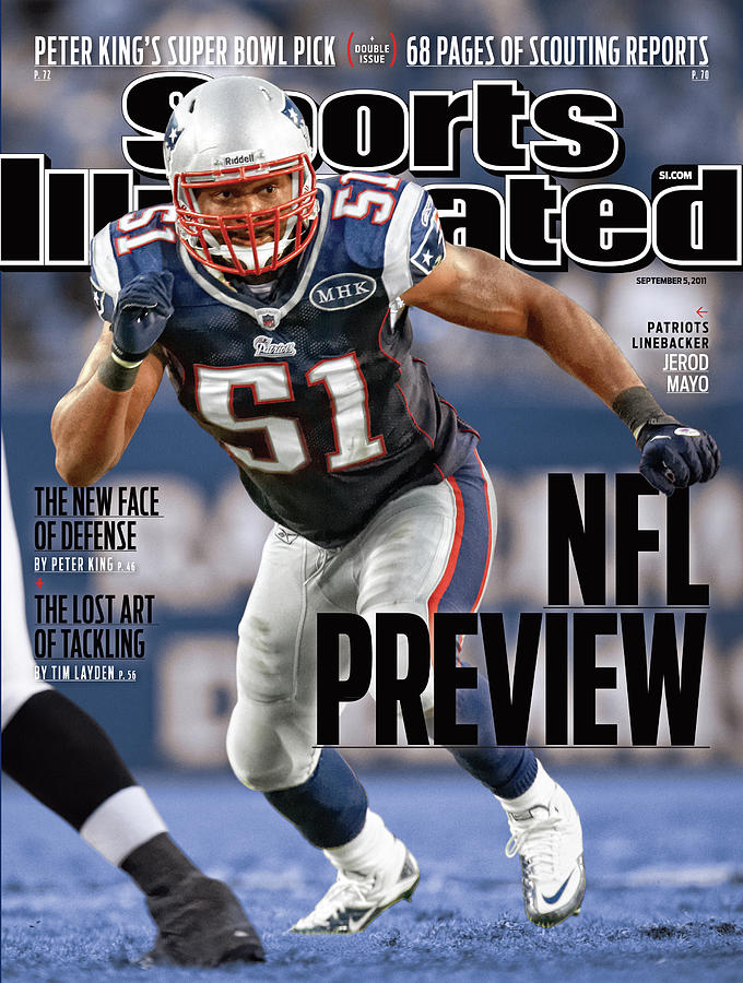 New England Patriots Jerod Mayo, 2011 Nfl Football Preview Sports Illustrated Cover Photograph by Sports Illustrated