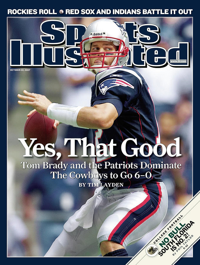 New England Patriots Qb Tom Brady... Sports Illustrated Cover Photograph by Sports Illustrated