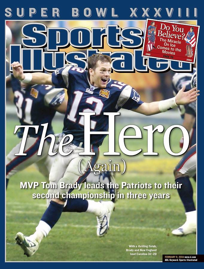 New England Patriots Qb Tom Brady, Super Bowl Xxxviii Sports Illustrated Cover Photograph by Sports Illustrated