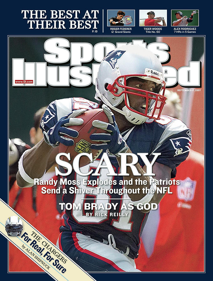 New England Patriots Randy Moss Sports Illustrated Cover Photograph by Sports Illustrated