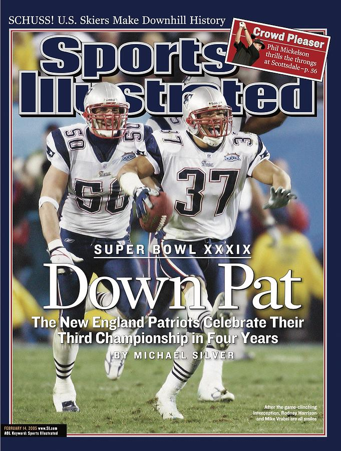 New England Patriots Rodney Harrison And Mike Vrabel, Super Sports Illustrated Cover Photograph by Sports Illustrated