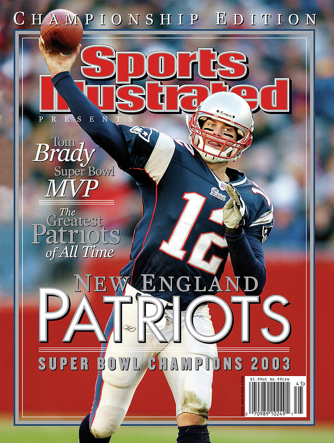 New England Qb Tom Brady, Super Bowl Xxxviii Champions Sports Illustrated Cover Photograph by Sports Illustrated