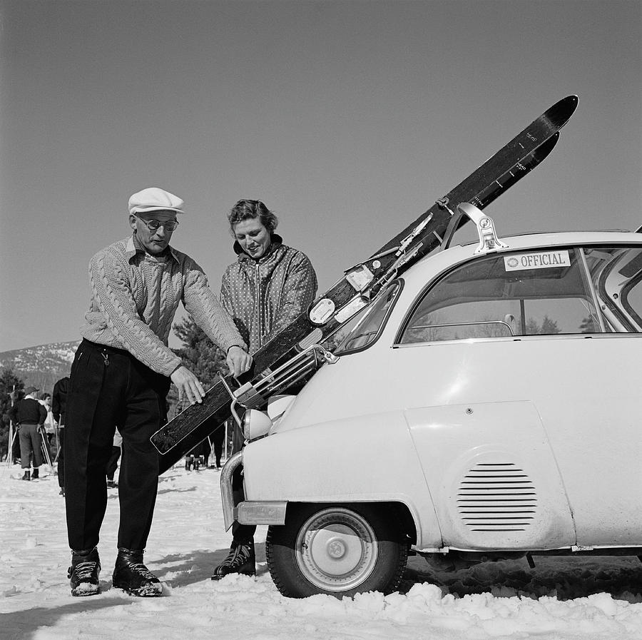 New England Skiing Photograph by Slim Aarons