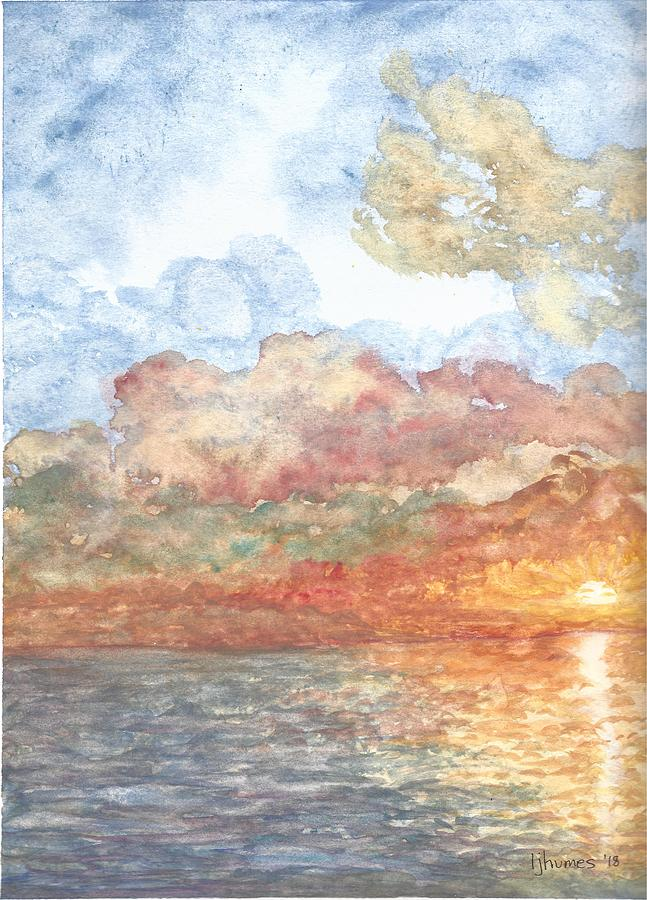 Lake Painting - New Every Morning by Linda Humes
