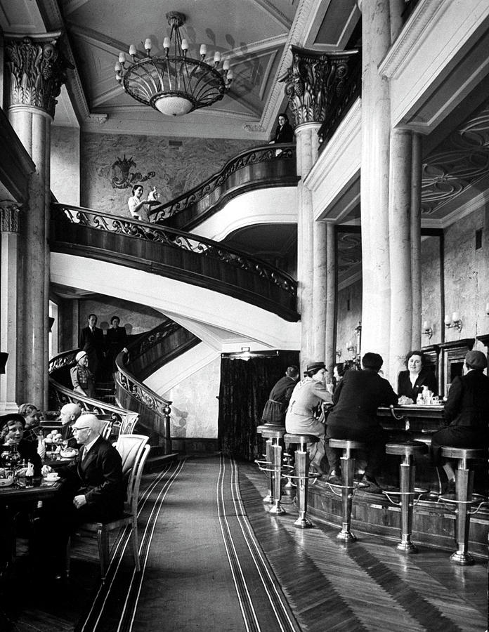 New, Expensively Elegant Cocktall Hall O Photograph by Margaret Bourke-white