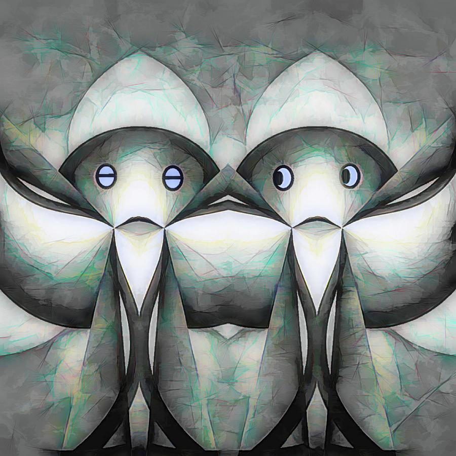 Sweden Digital Art - New Friends by Barry W King