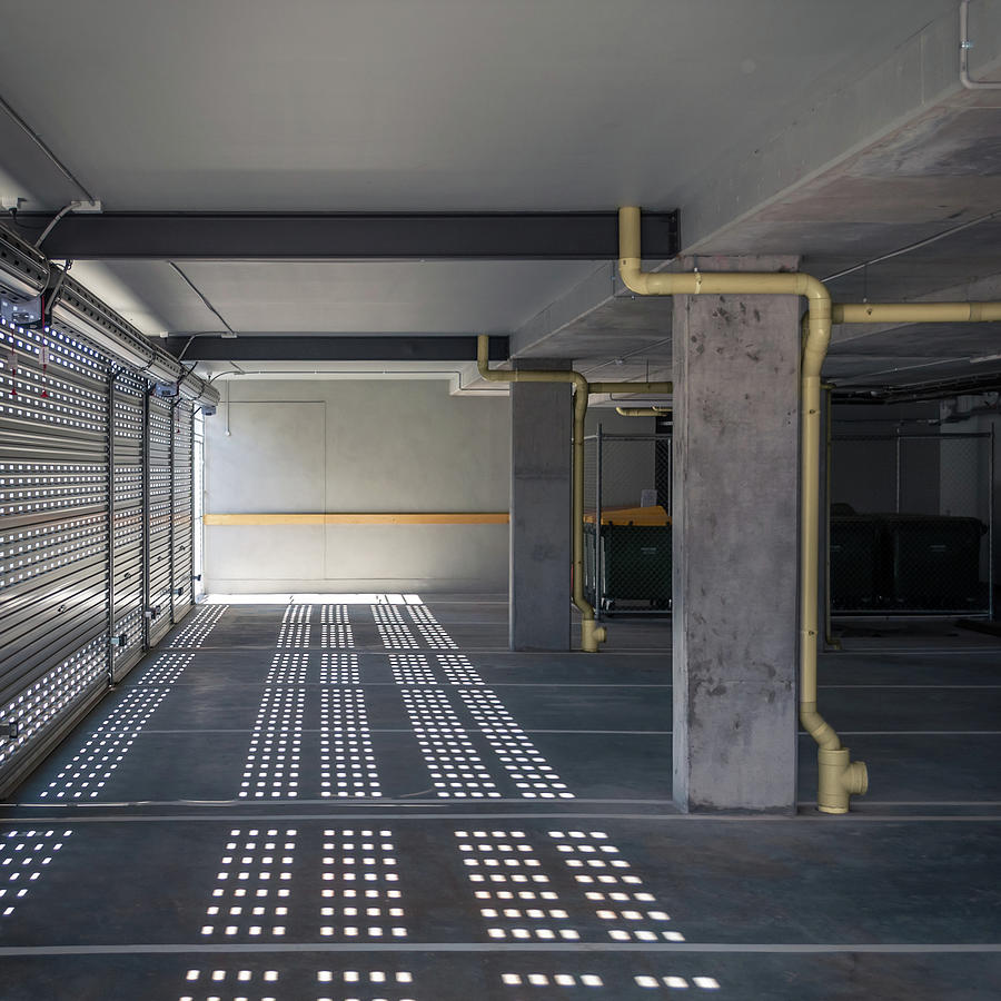 New Grey Parking Interior Photograph by John Abbate