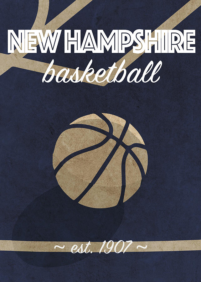 New Hampshire Mixed Media - New Hampshire Basketball College Retro Vintage Poster University Series by Design Turnpike