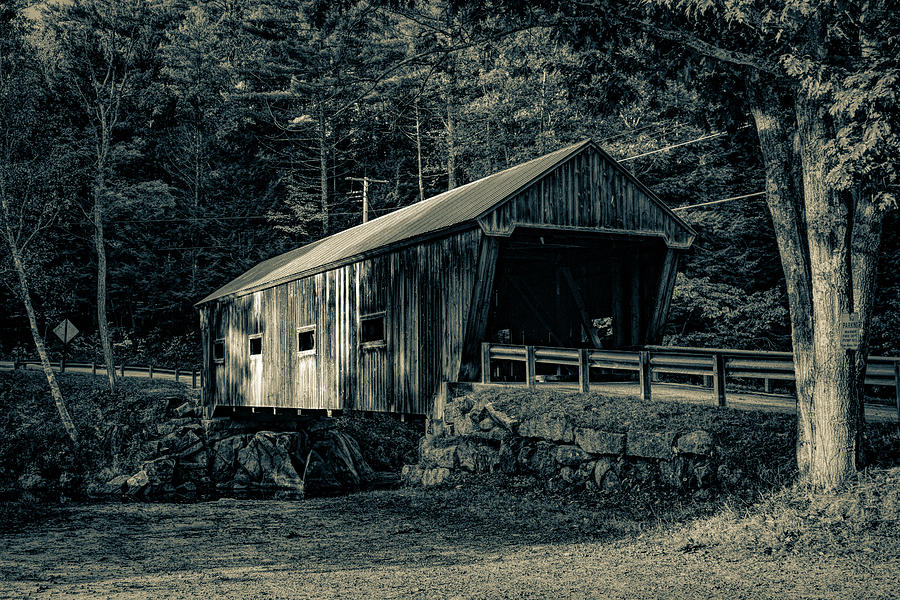 New Hampshire Covered Bridge Tinted by Jeff Folger