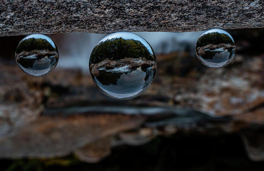 Crystal Balls Photograph - New Hampshire River Through Crystal Balls by Linda Howes