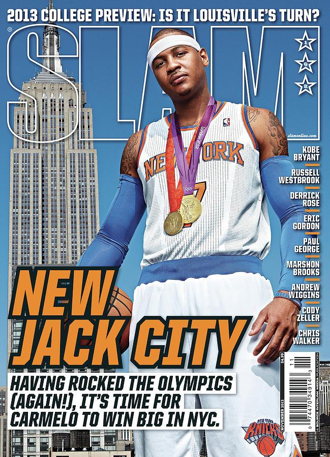 Carmelo Anthony Photograph - New Jack City SLAM Cover by Tom Medvedich