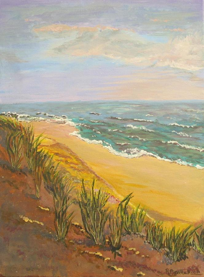 Seascape Painting - New Jersey Beach by Rosita Pisarchick