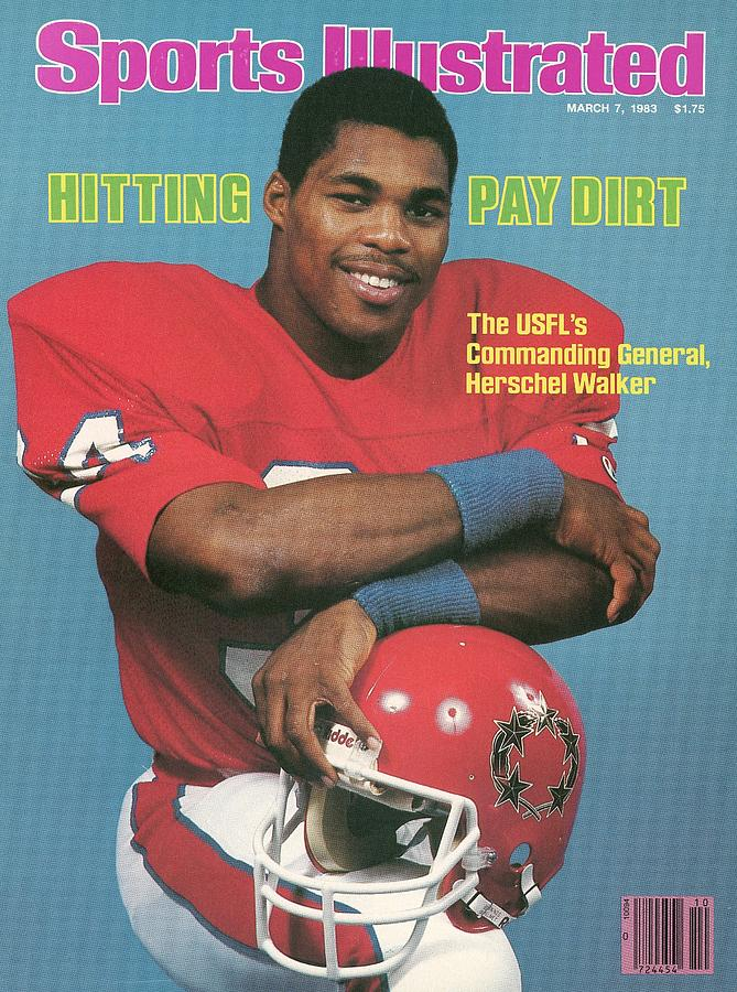 New Jersey Generals Herschel Walker Sports Illustrated Cover Photograph by Sports Illustrated