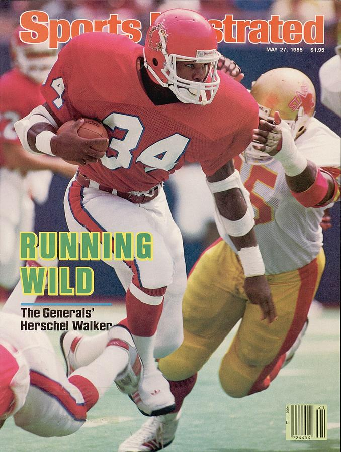 New Jersey Generals Herschel Walker... Sports Illustrated Cover Photograph by Sports Illustrated