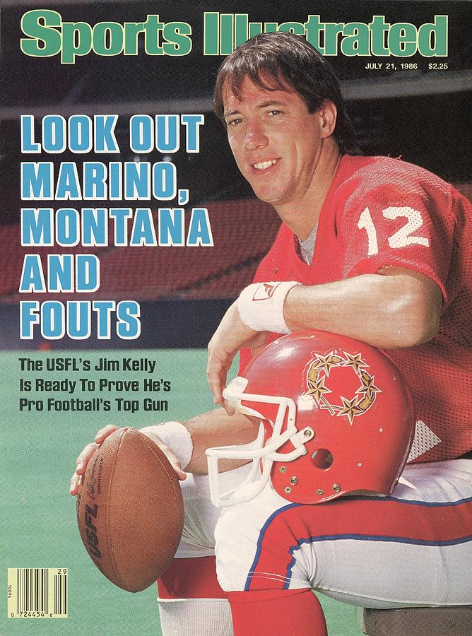 New Jersey Generals Qb Jim Kelly Sports Illustrated Cover Photograph by Sports Illustrated