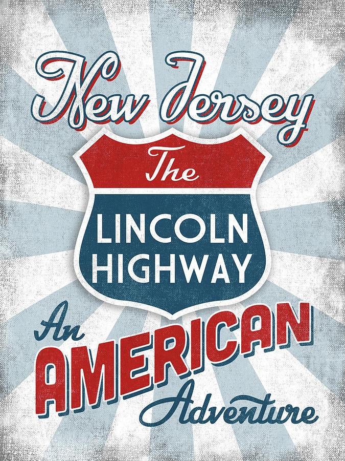 New Jersey Digital Art - New Jersey Lincoln Highway America by Flo Karp