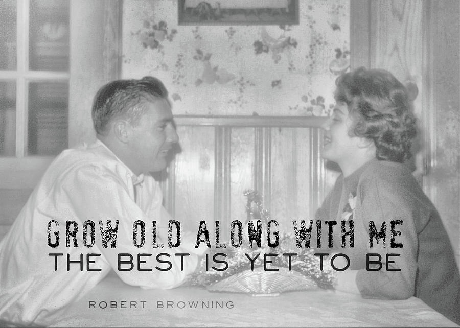 Vintage Photograph - New Love Quote by JAMART Photography