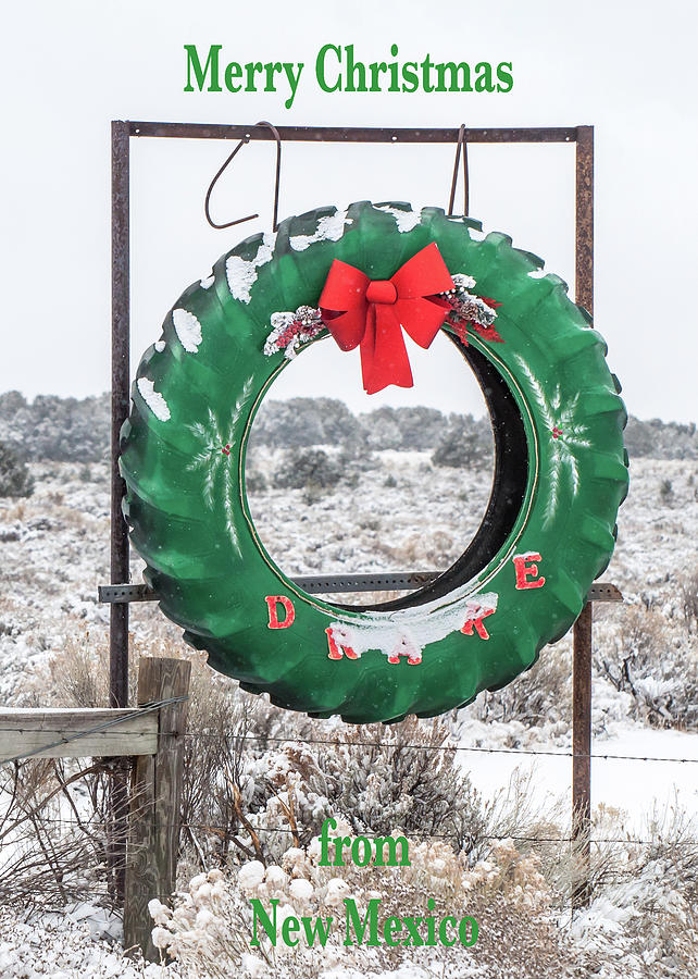 New Mexico Christmas Card by Britt Runyon
