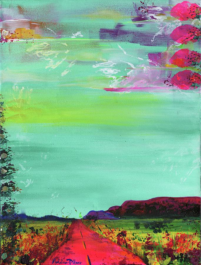 New Mexico Painting - New Mexico Road by Madeline Dillner