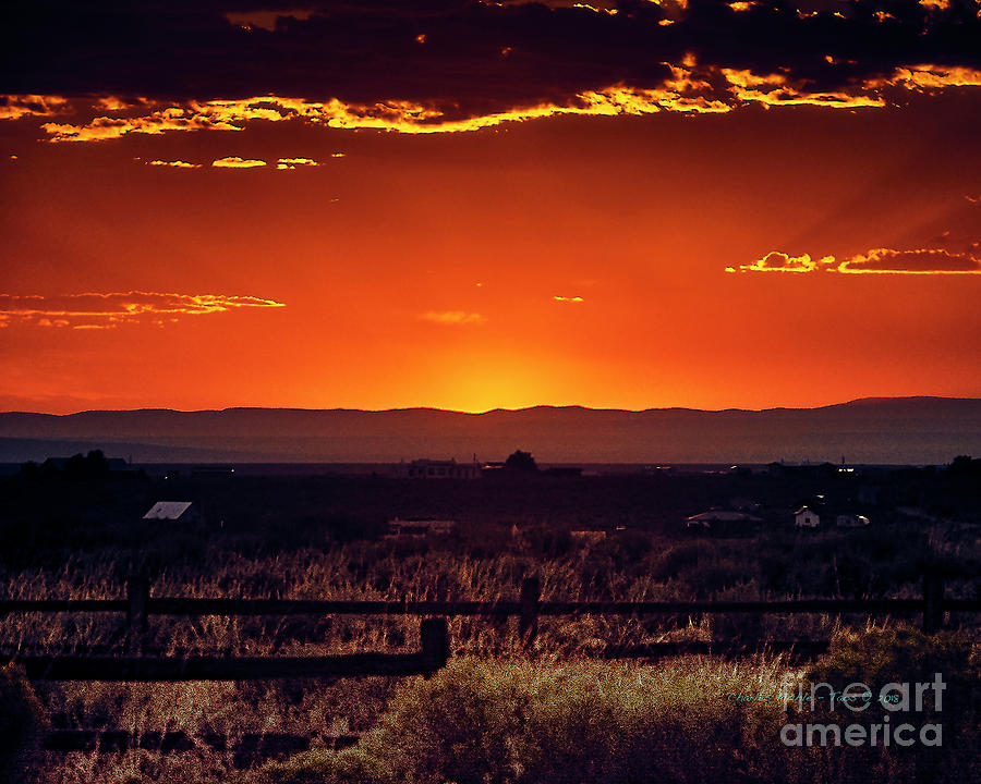 New Mexico Sunset by Charles Muhle