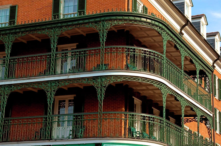 New Orleans Balconies Photograph by Dhuss