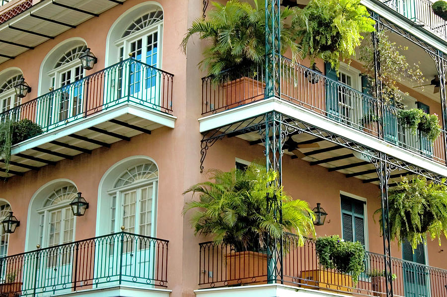 New Orleans Balconies II Photograph by Dhuss