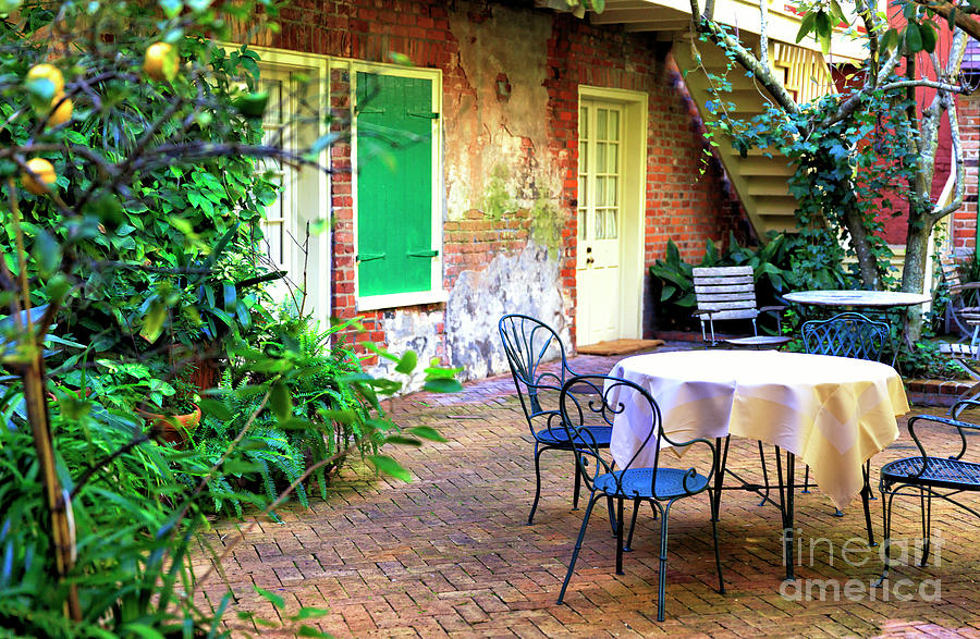 Style Photograph - New Orleans Creole Courtyard Style by John Rizzuto