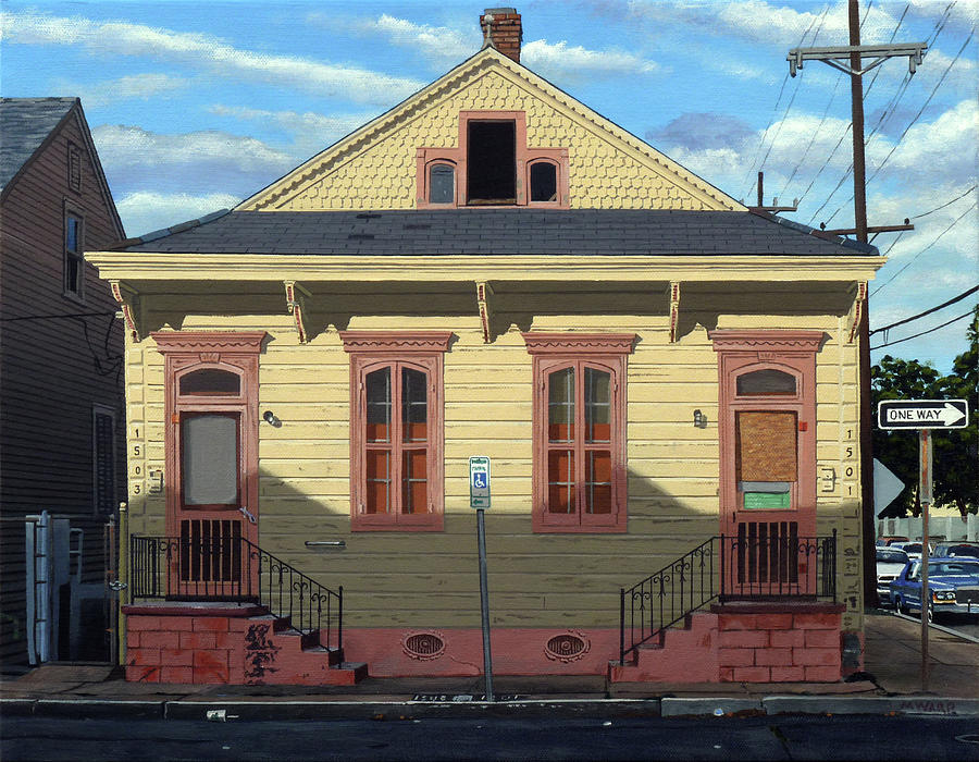 New Orleans Duplex Painting