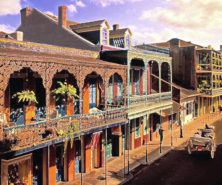 New Orleans Louisiana French Quarter Art by Olde Time Mercantile