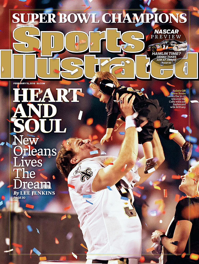 New Orleans Saints Qb Drew Brees, Super Bowl Xliv Sports Illustrated Cover Photograph by Sports Illustrated